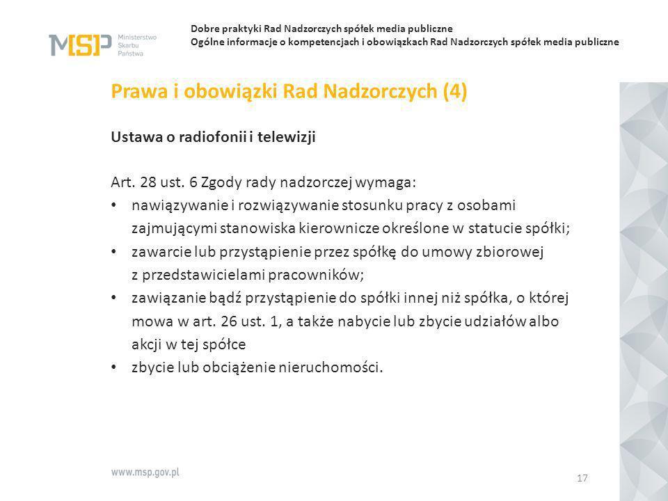 Prawa i obowiązki Rad Nadzorczych (4)