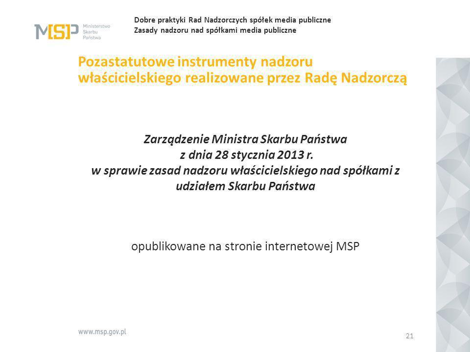 opublikowane na stronie internetowej MSP
