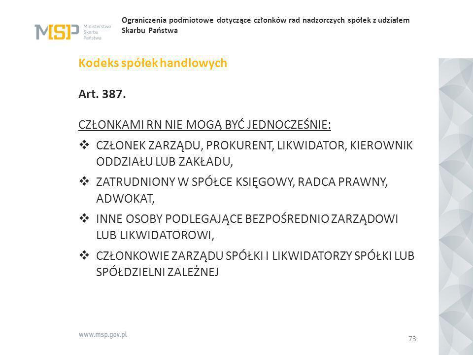Kodeks spółek handlowych Art. 387.