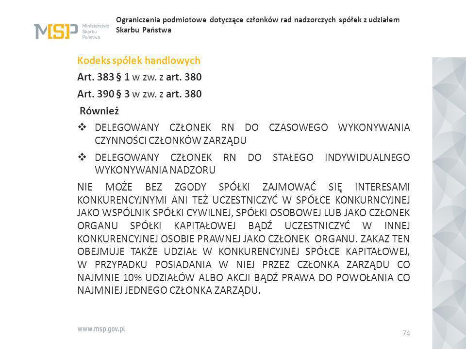 Kodeks spółek handlowych Art. 383 § 1 w zw. z art. 380