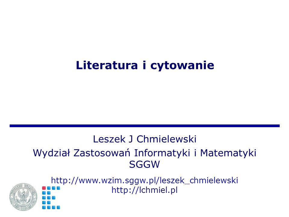 Literatura i cytowanie