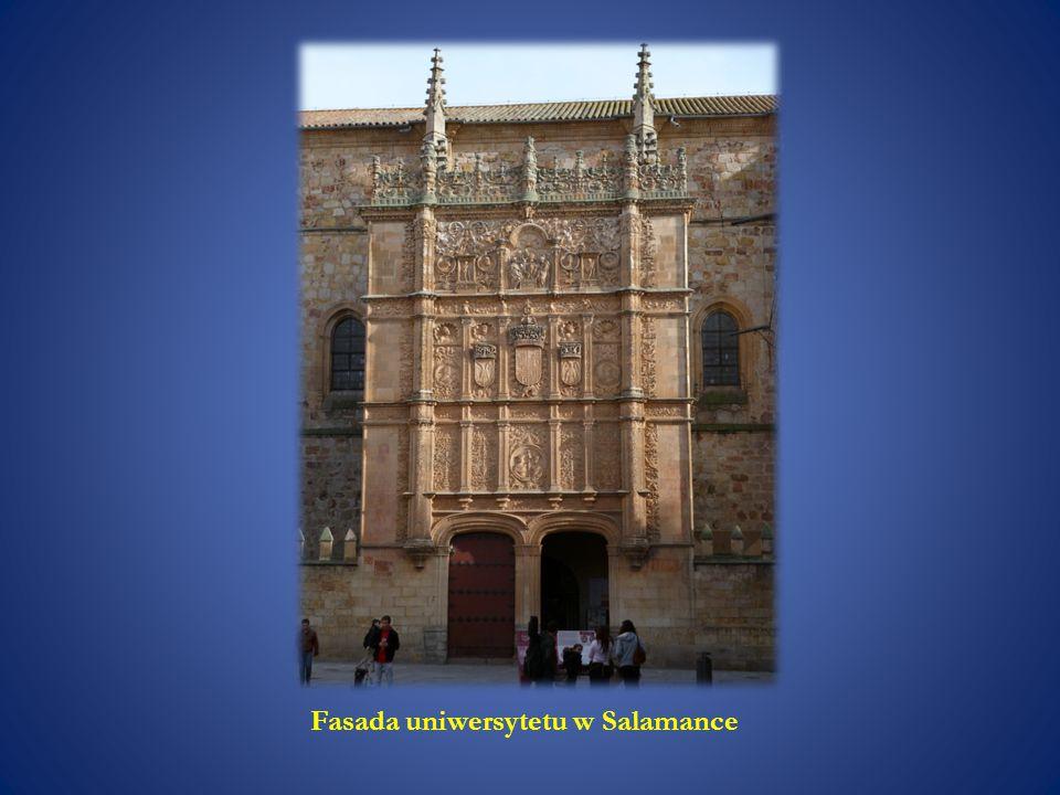 Fasada uniwersytetu w Salamance
