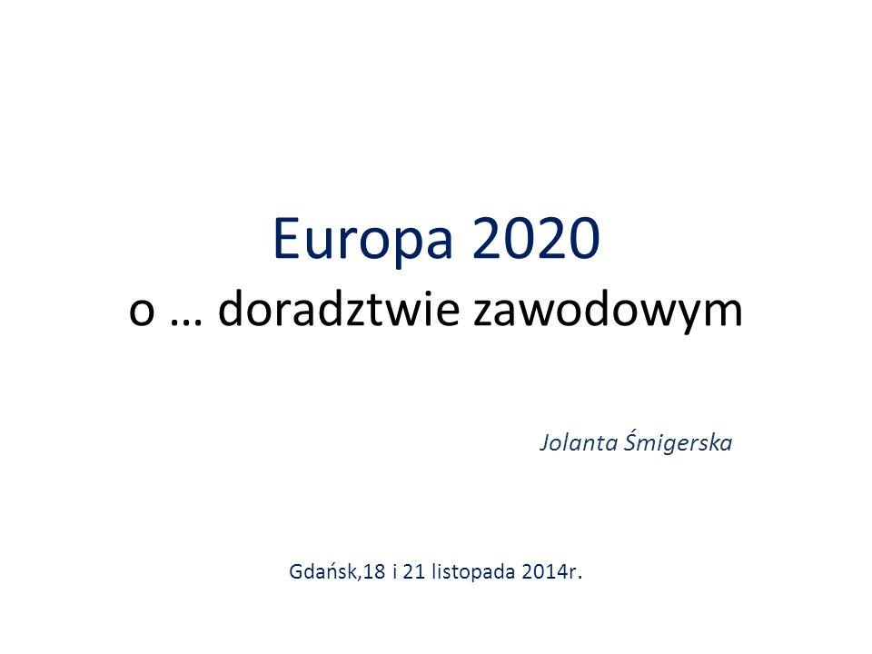 Europa 2020 o … doradztwie zawodowym