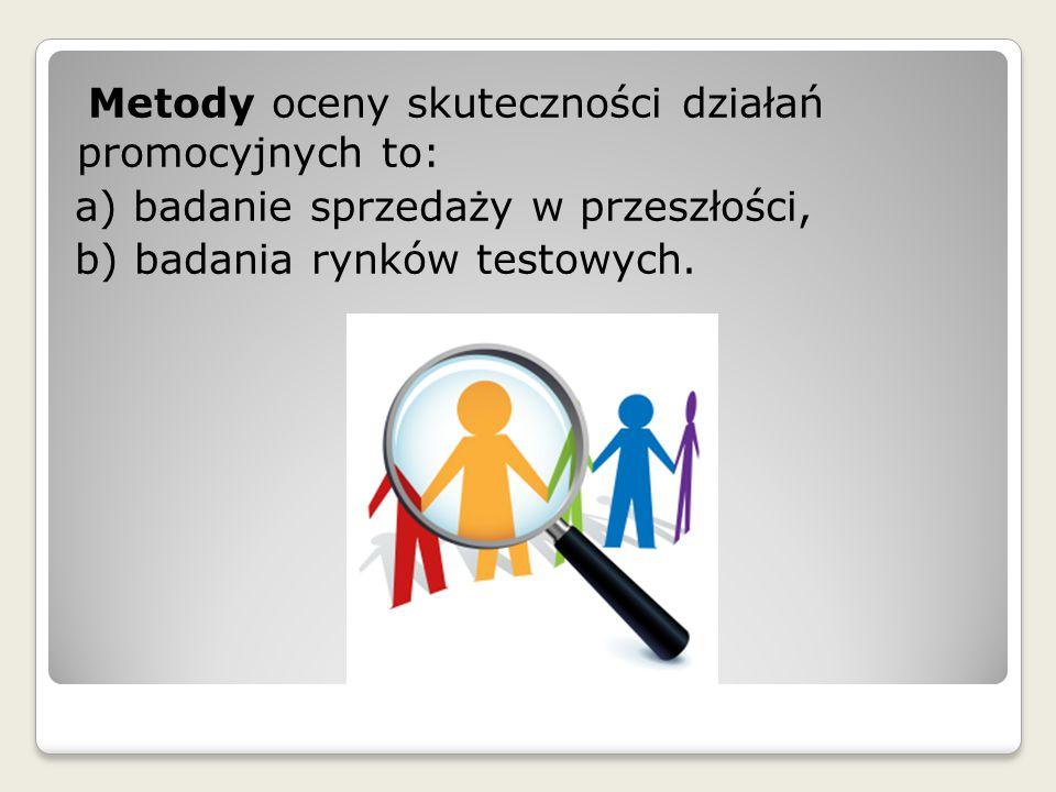 Metody oceny skuteczności działań promocyjnych to:
