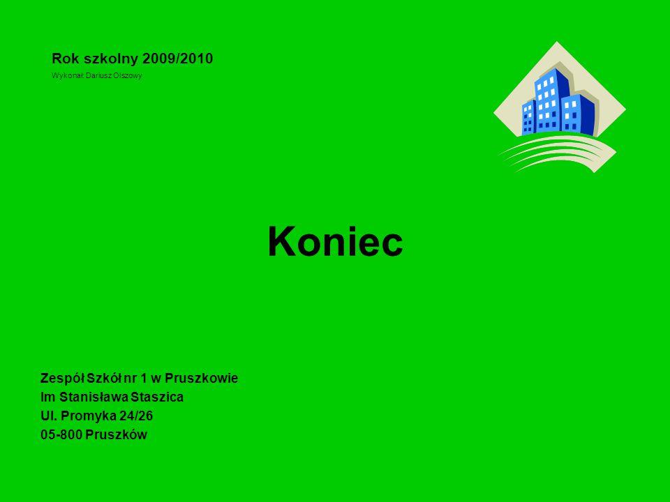 Koniec Rok szkolny 2009/2010 Zespół Szkół nr 1 w Pruszkowie
