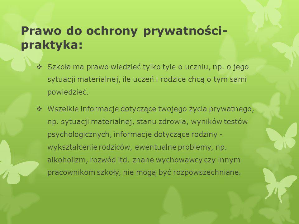 Prawo do ochrony prywatności-praktyka: