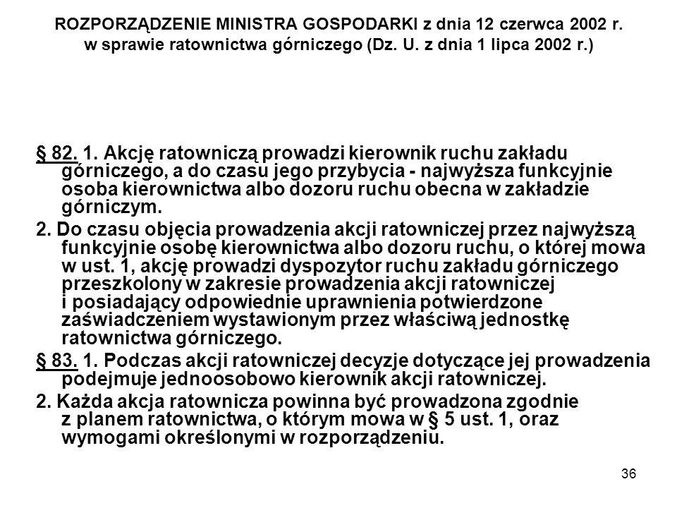 ROZPORZĄDZENIE MINISTRA GOSPODARKI z dnia 12 czerwca 2002 r