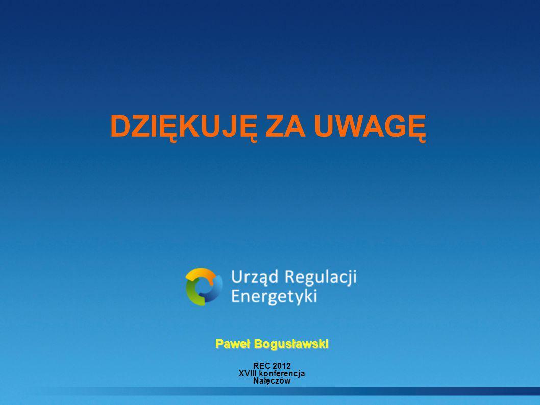 DZIĘKUJĘ ZA UWAGĘ Paweł Bogusławski REC 2012 XVIII konferencja