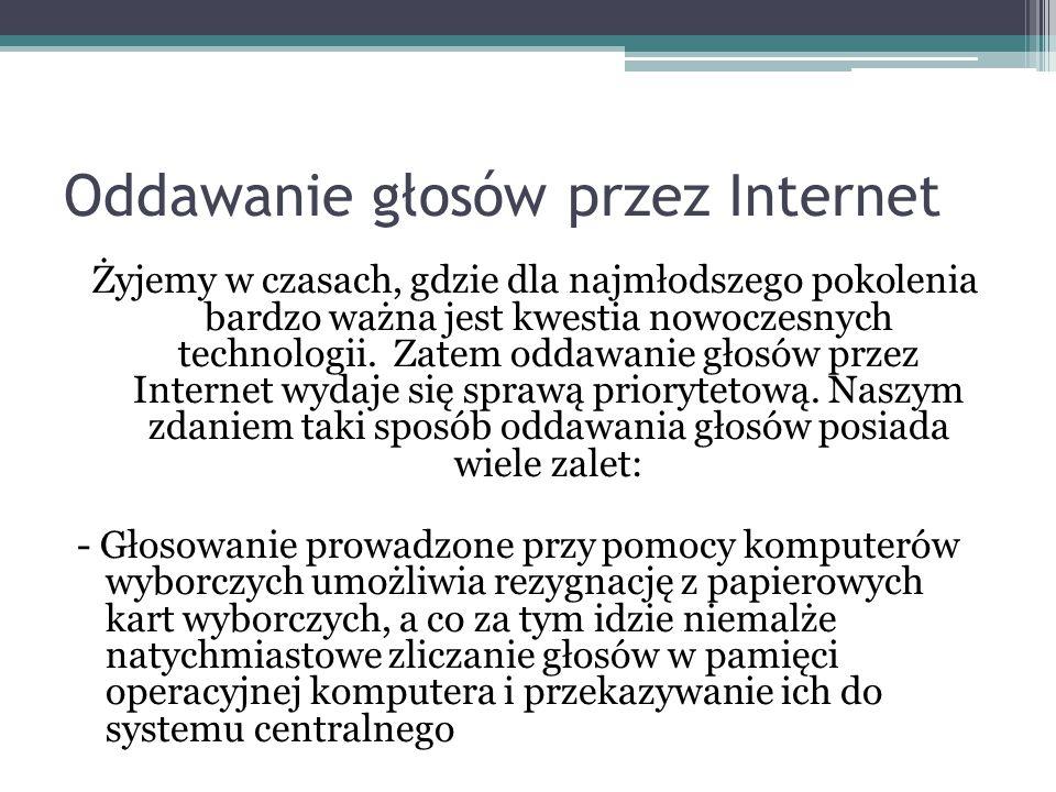Oddawanie głosów przez Internet