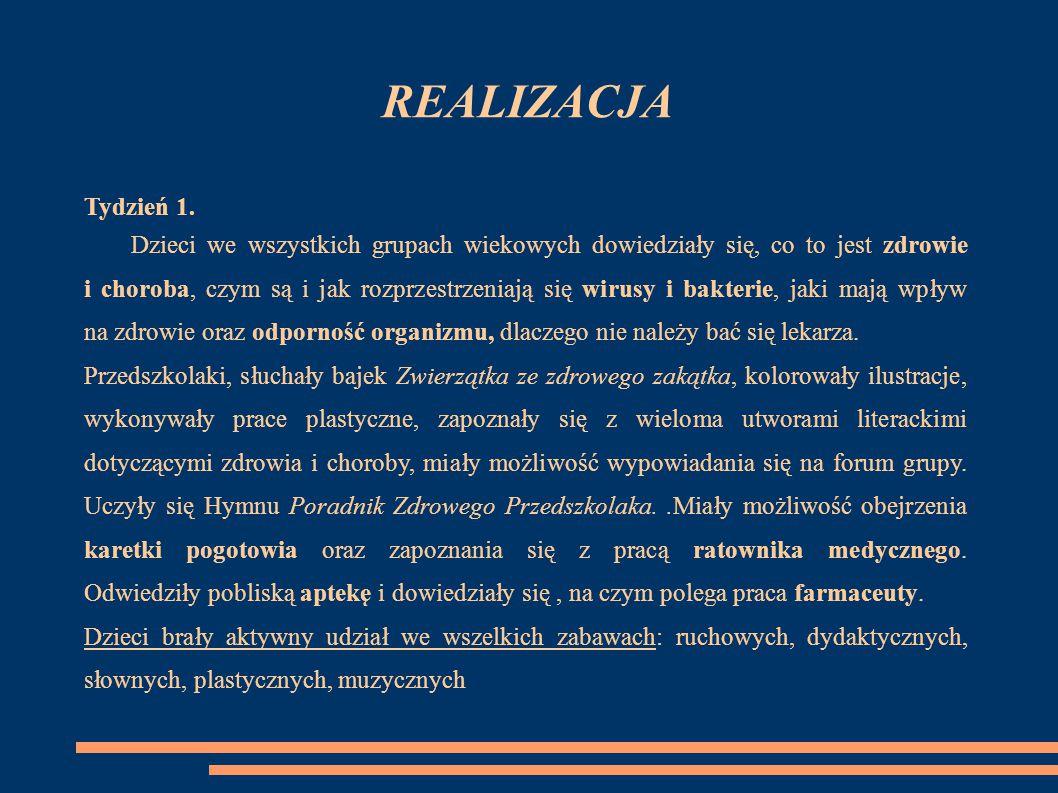 REALIZACJA Tydzień 1.