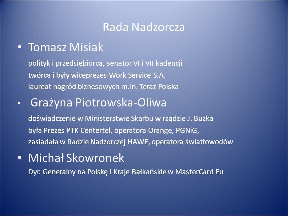 Rada Nadzorcza Tomasz Misiak Michał Skowronek