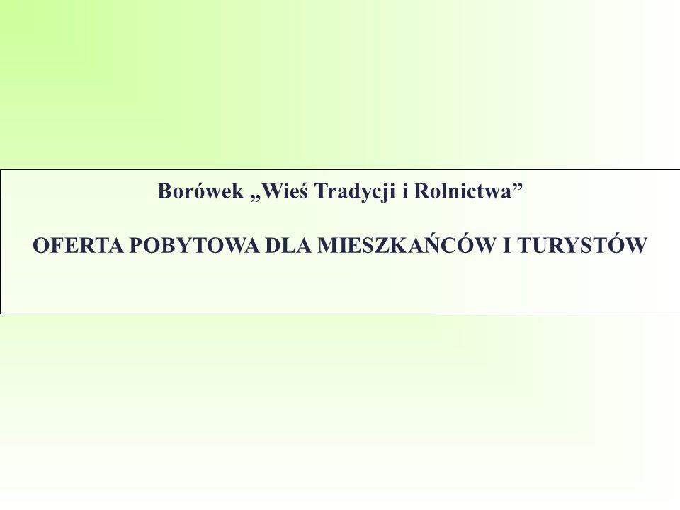"""Borówek """"Wieś Tradycji i Rolnictwa OFERTA POBYTOWA DLA MIESZKAŃCÓW I TURYSTÓW"""