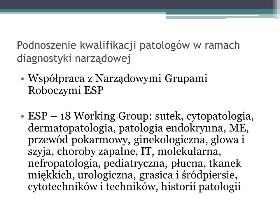 Podnoszenie kwalifikacji patologów w ramach diagnostyki narządowej