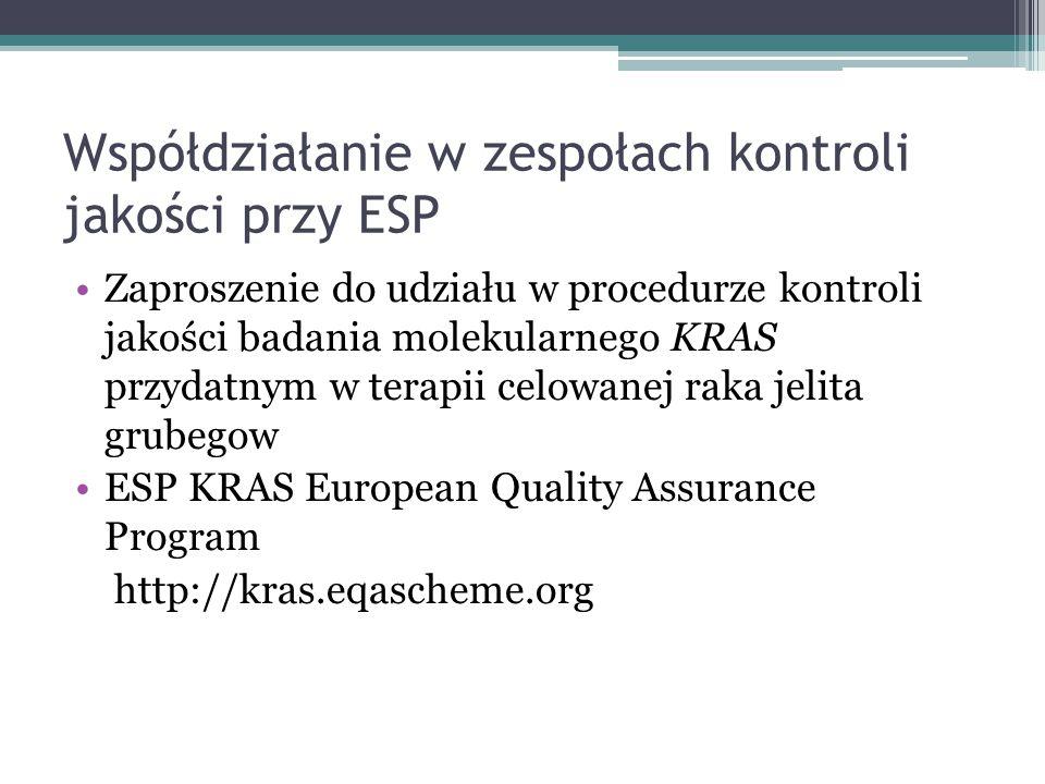 Współdziałanie w zespołach kontroli jakości przy ESP