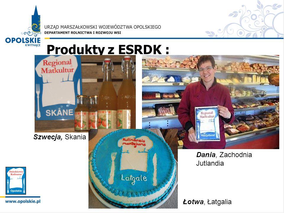 Produkty z ESRDK : Szwecja, Skania Dania, Zachodnia Jutlandia