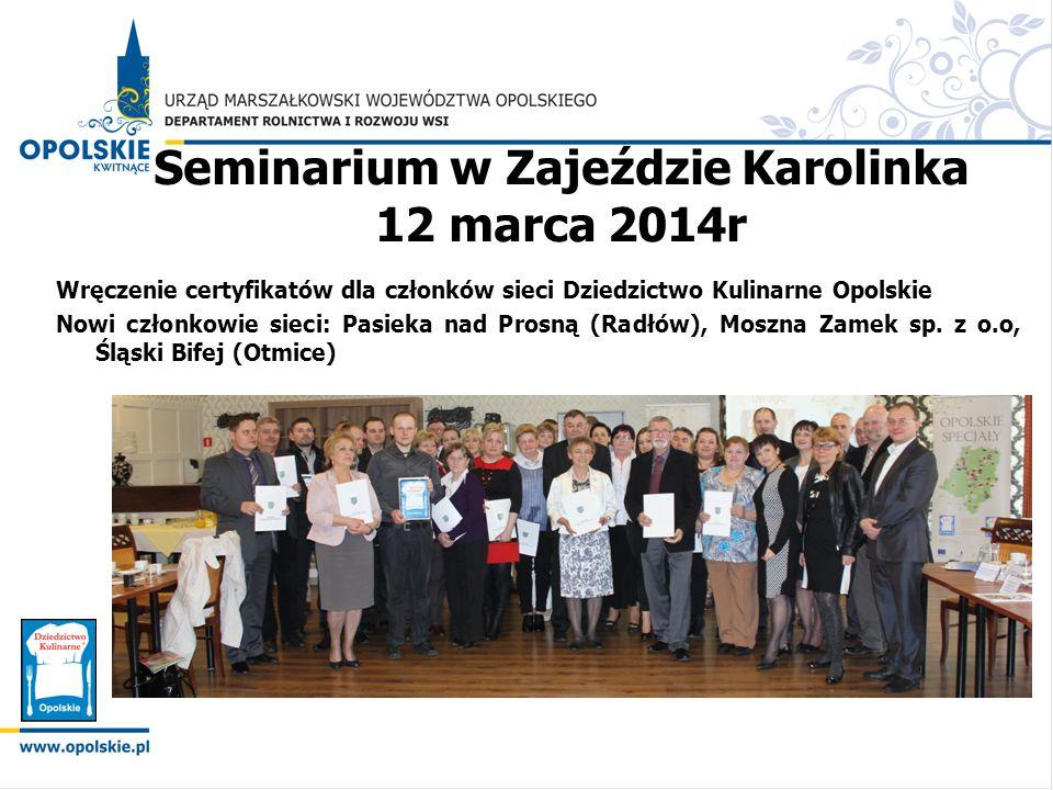 Seminarium w Zajeździe Karolinka 12 marca 2014r