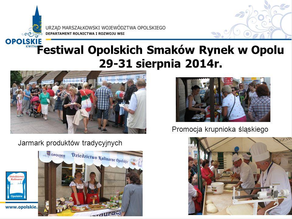 Festiwal Opolskich Smaków Rynek w Opolu 29-31 sierpnia 2014r.