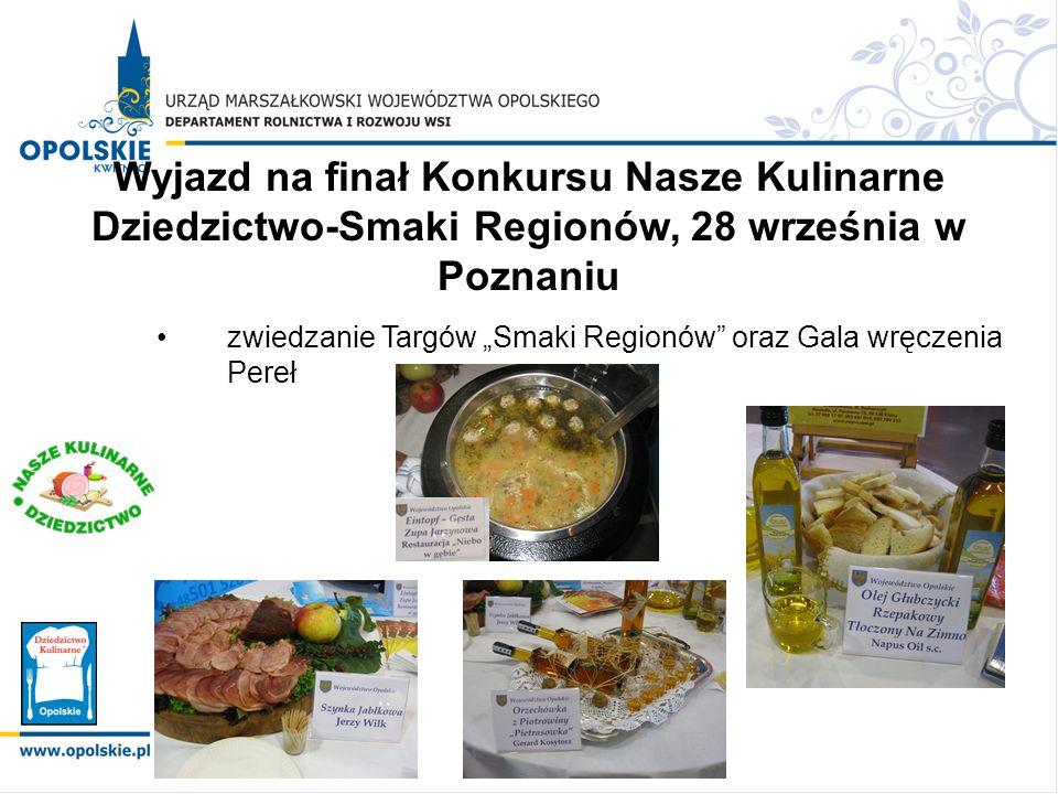 Wyjazd na finał Konkursu Nasze Kulinarne Dziedzictwo-Smaki Regionów, 28 września w Poznaniu