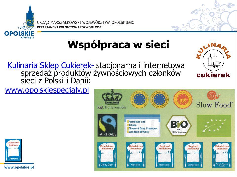 Współpraca w sieci Kulinaria Sklep Cukierek- stacjonarna i internetowa sprzedaż produktów żywnościowych członków sieci z Polski i Danii:
