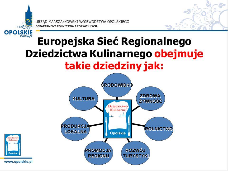 Europejska Sieć Regionalnego Dziedzictwa Kulinarnego obejmuje takie dziedziny jak:
