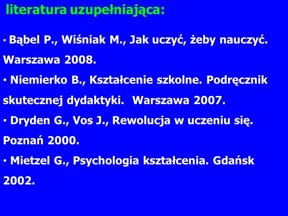 Dryden G., Vos J., Rewolucja w uczeniu się. Poznań 2000.