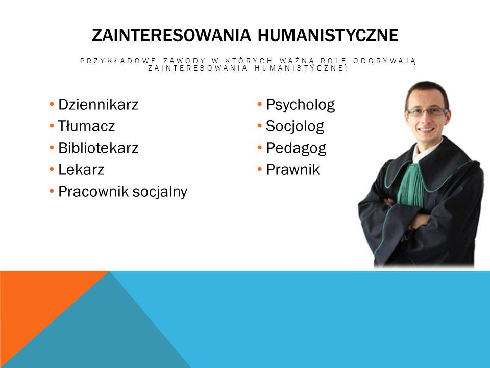 Zainteresowania humanistyczne