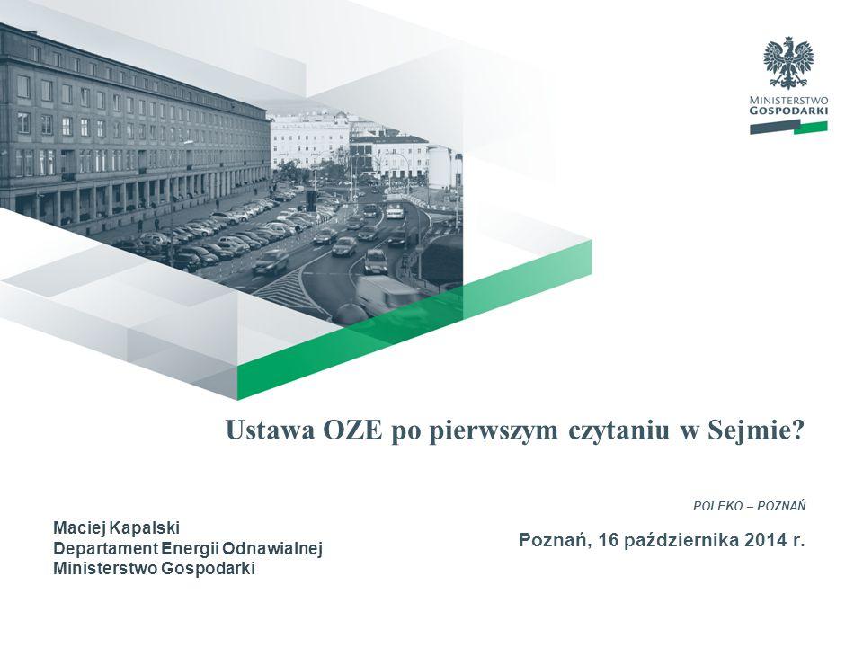 Ustawa OZE po pierwszym czytaniu w Sejmie