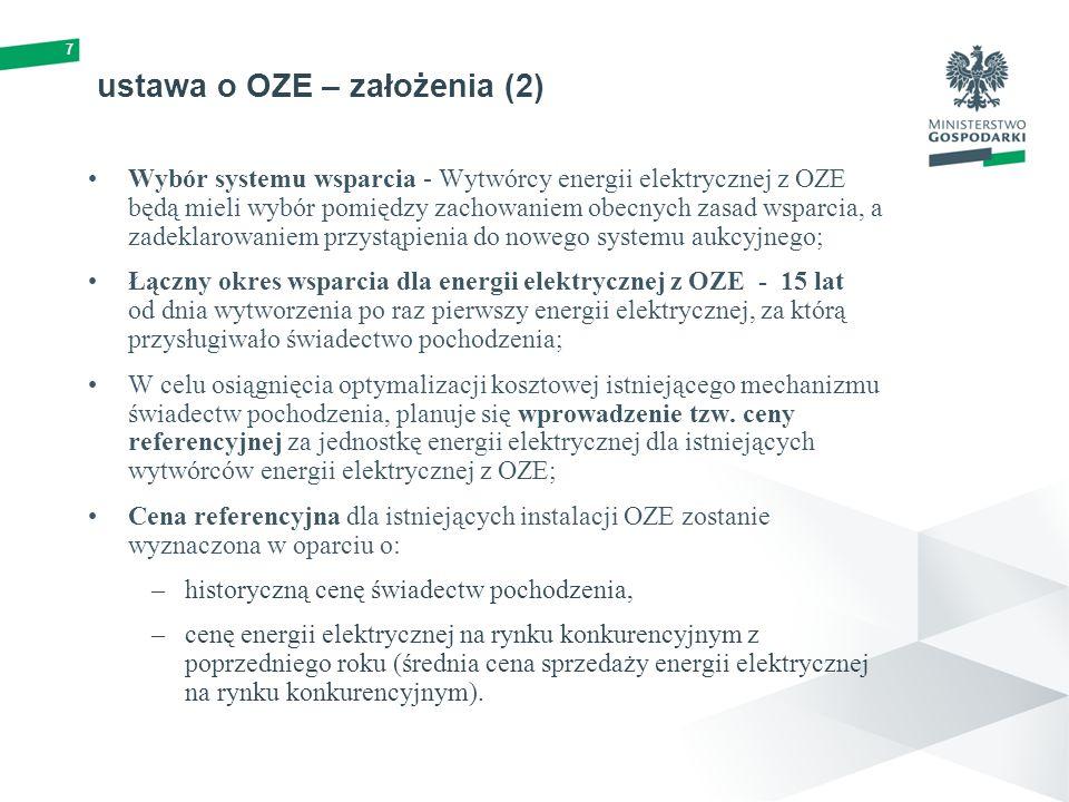 ustawa o OZE – założenia (2)