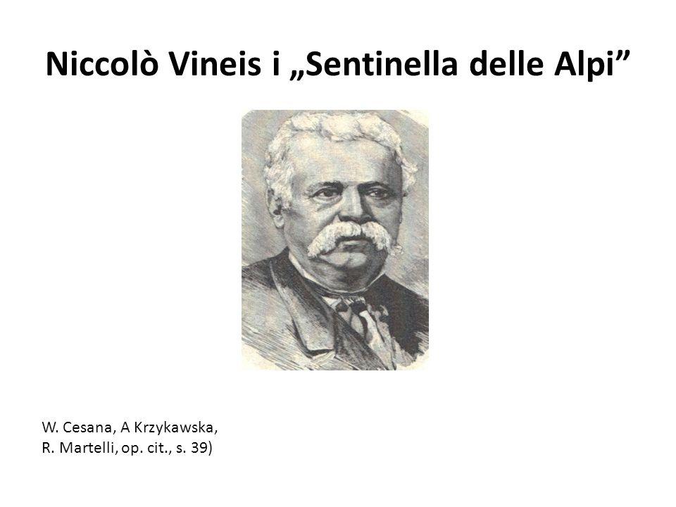 "Niccolò Vineis i ""Sentinella delle Alpi"