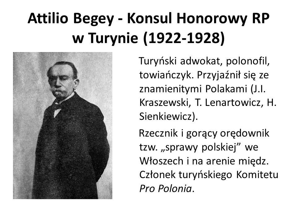 Attilio Begey - Konsul Honorowy RP w Turynie (1922-1928)
