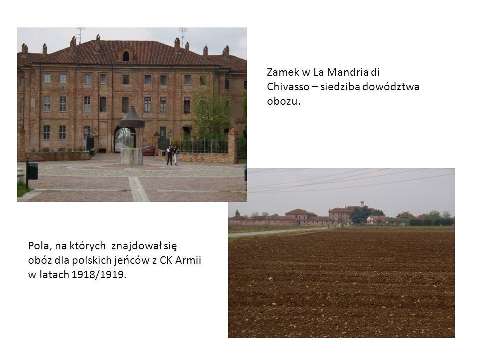 Zamek w La Mandria di Chivasso – siedziba dowództwa obozu.