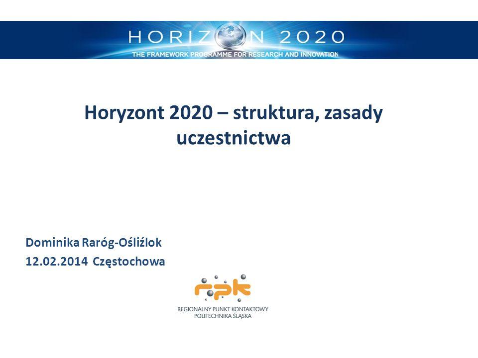 Horyzont 2020 – struktura, zasady uczestnictwa