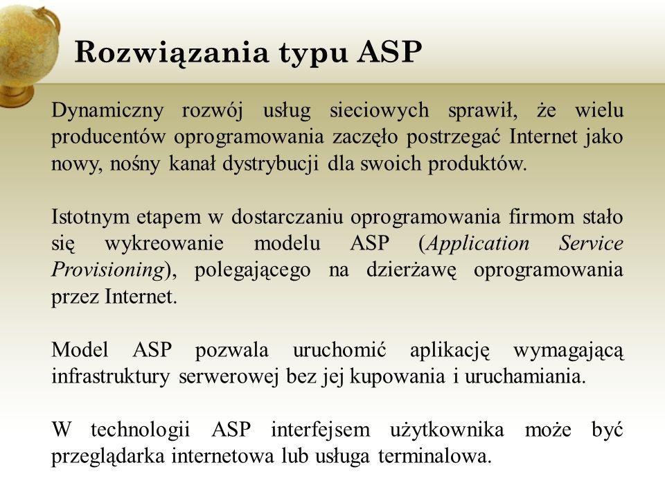 Rozwiązania typu ASP