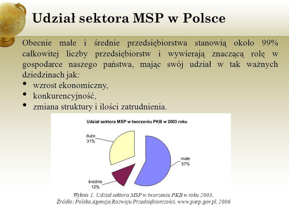 Udział sektora MSP w Polsce