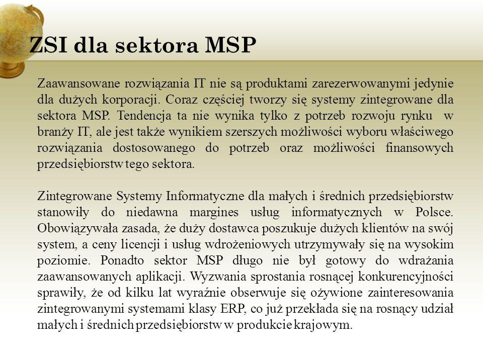 ZSI dla sektora MSP