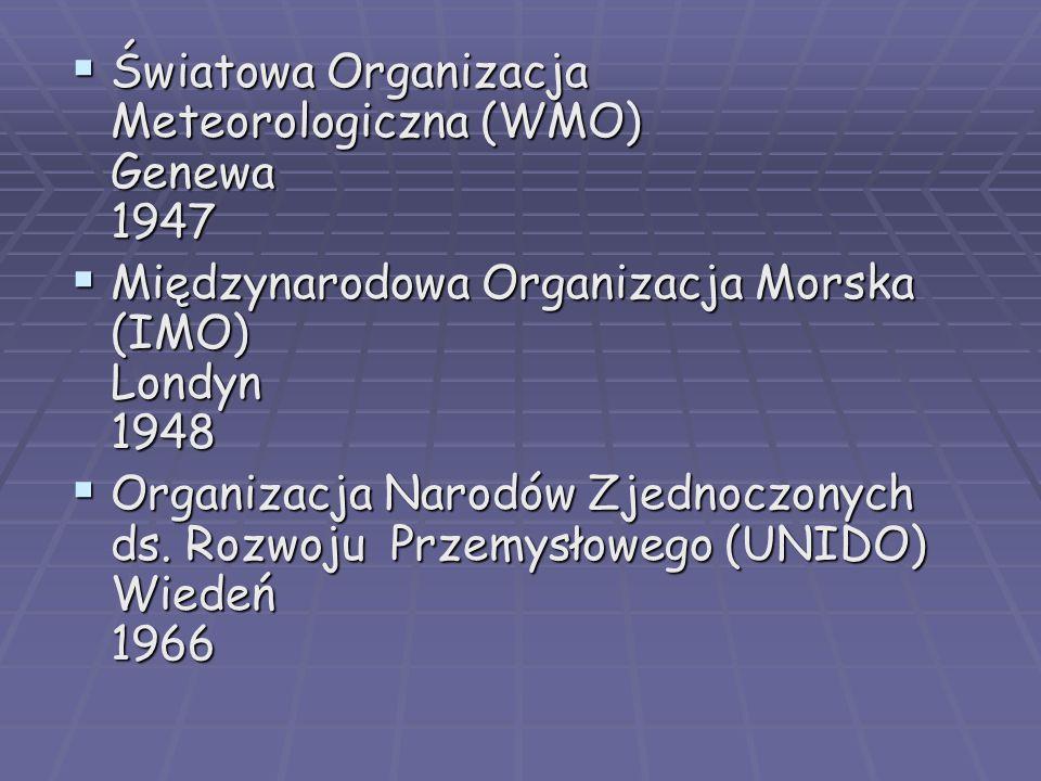 Światowa Organizacja Meteorologiczna (WMO) Genewa 1947