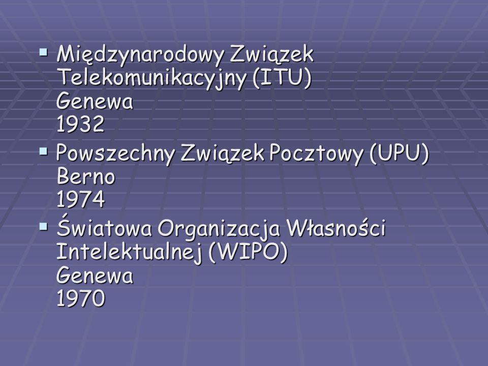 Międzynarodowy Związek Telekomunikacyjny (ITU) Genewa 1932