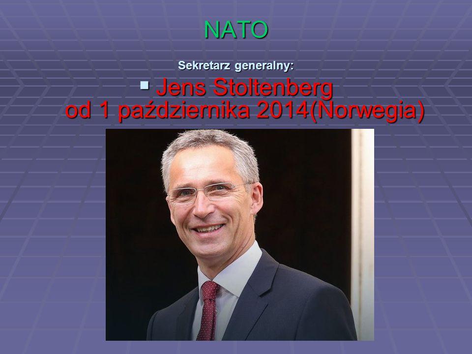 Jens Stoltenberg od 1 października 2014(Norwegia)