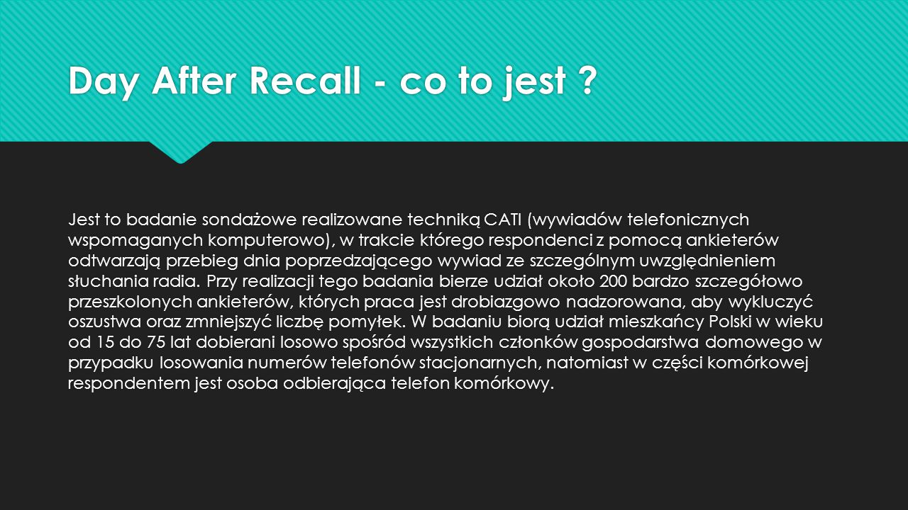 Day After Recall - co to jest