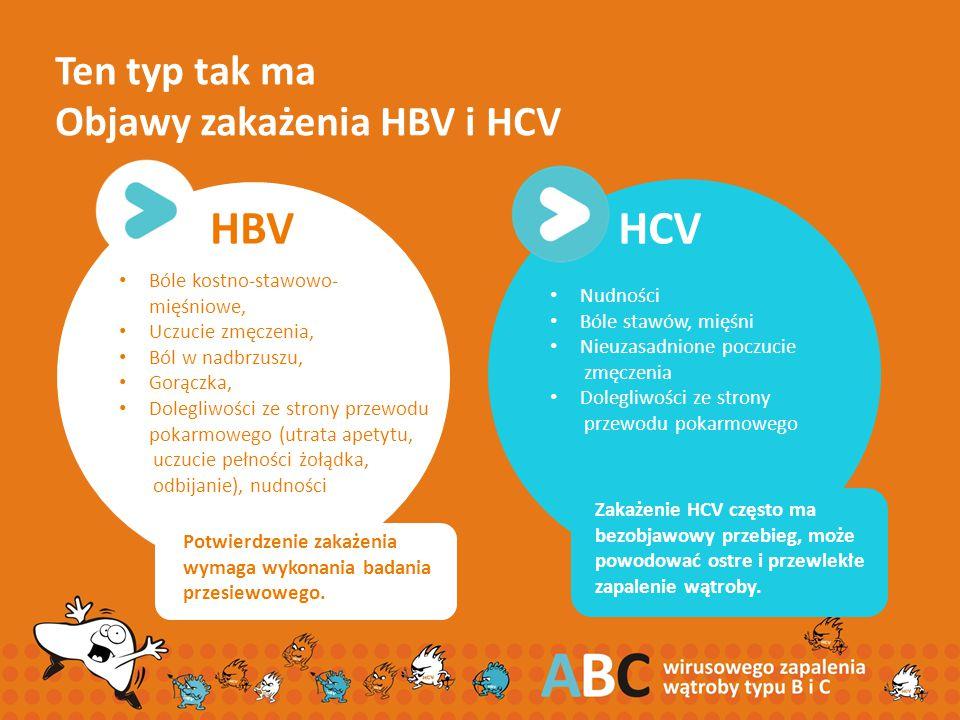Ten typ tak ma Objawy zakażenia HBV i HCV