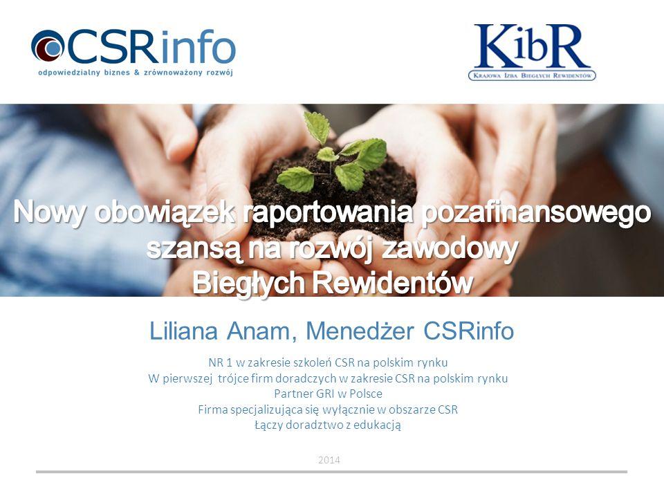 Liliana Anam, Menedżer CSRinfo