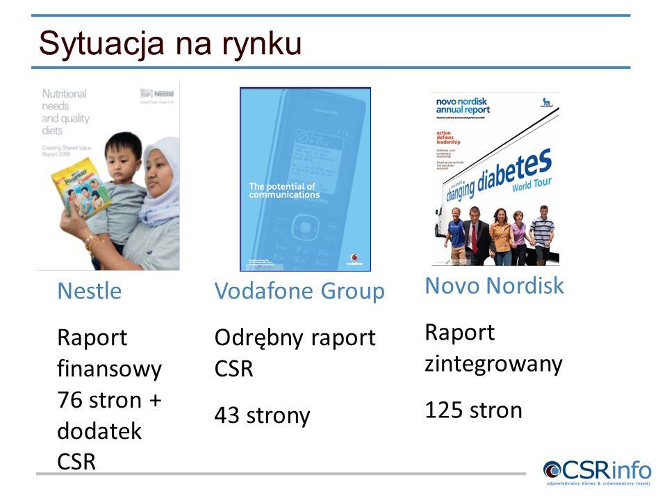 Sytuacja na rynku Novo Nordisk Raport zintegrowany 125 stron Nestle