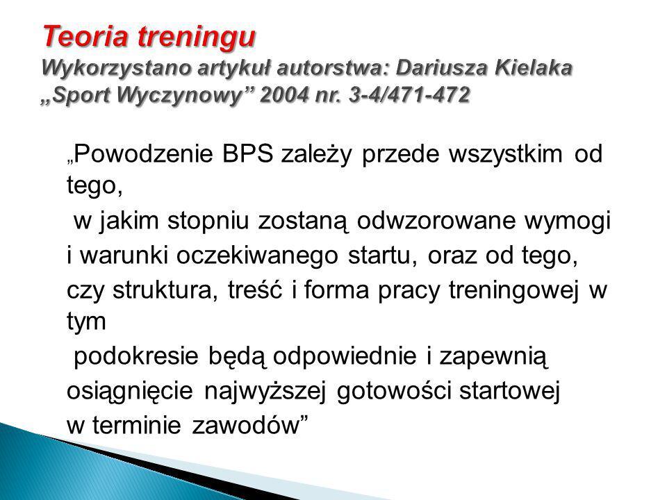 """Teoria treningu Wykorzystano artykuł autorstwa: Dariusza Kielaka """"Sport Wyczynowy 2004 nr. 3-4/471-472"""