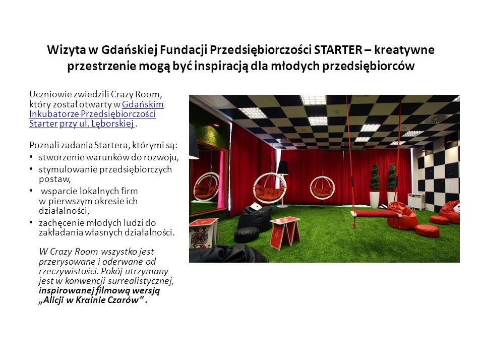 Wizyta w Gdańskiej Fundacji Przedsiębiorczości STARTER – kreatywne przestrzenie mogą być inspiracją dla młodych przedsiębiorców