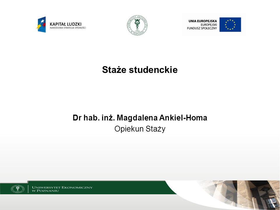 Dr hab. inż. Magdalena Ankiel-Homa