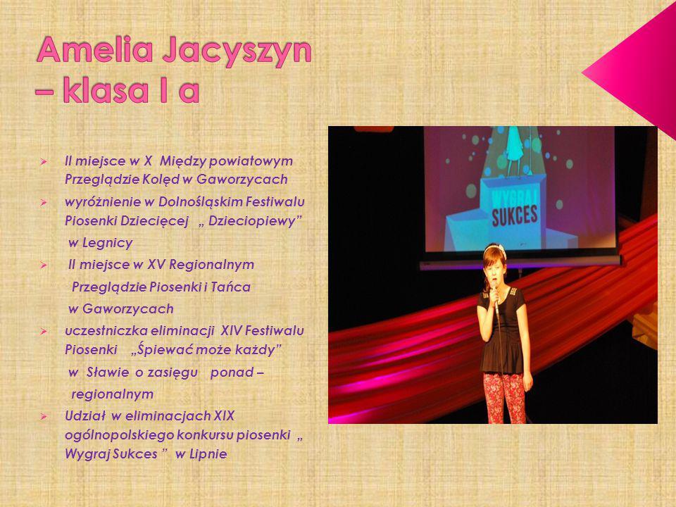 Amelia Jacyszyn – klasa I a