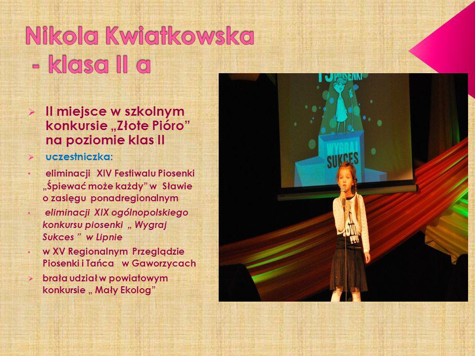 Nikola Kwiatkowska - klasa II a