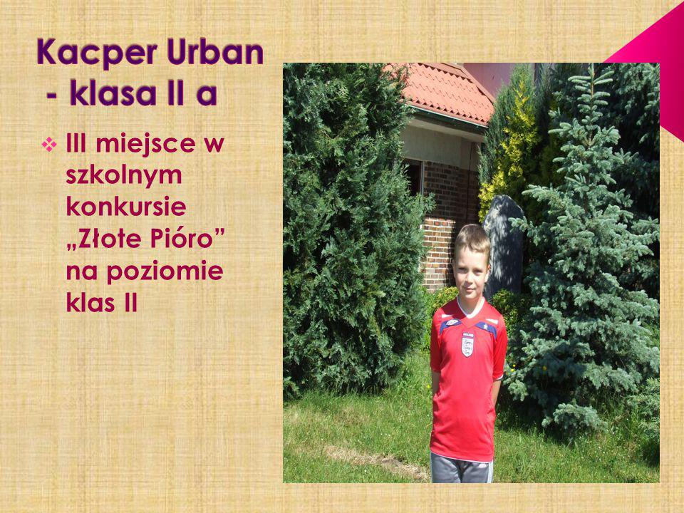 Kacper Urban - klasa II a