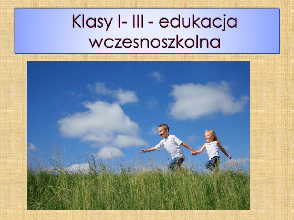 Klasy I- III - edukacja wczesnoszkolna