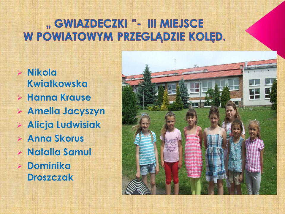 """"""" GWIAZDECZKI - III MIEJSCE W POWIATOWYM PRZEGLĄDZIE KOLĘD."""